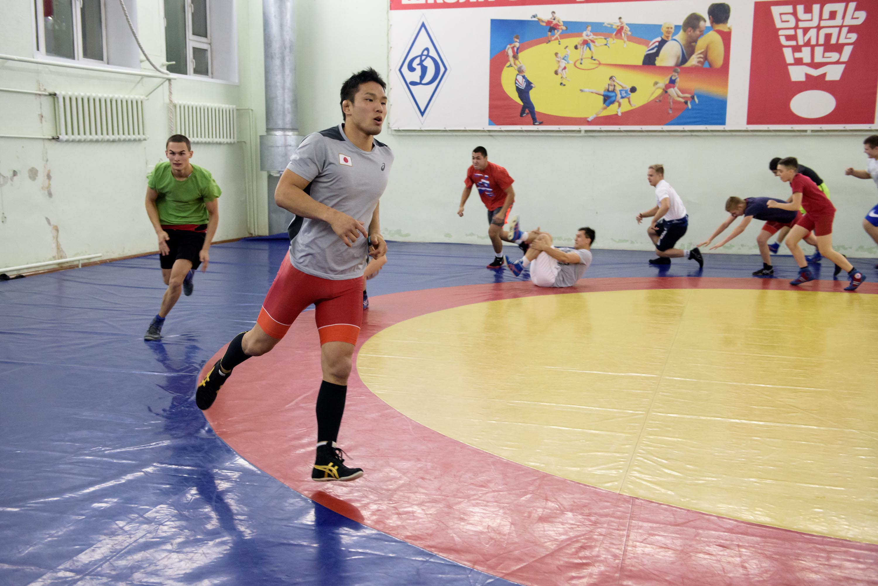 Training with Roman Vlasov and Takeshi Izumi Dinamo Club 04.11.2018 3000 102